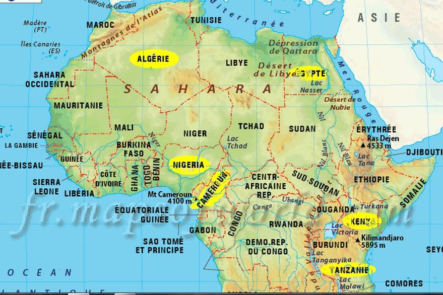 Carte Afrique Aujourdhui.Afrique Les Petits Freres De Jesus